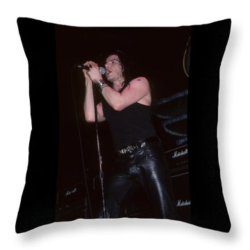 Ian Astbury Of The Cult Throw Pillow