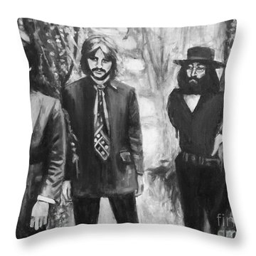And In The End Throw Pillow by Rebecca Glaze