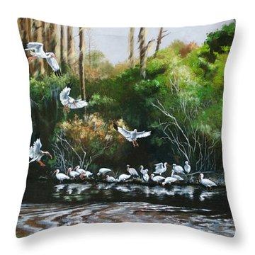 Ibis Landing Throw Pillow