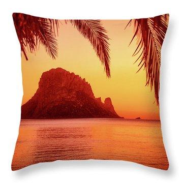 Ibiza Sunset Throw Pillow by Iryna Goodall