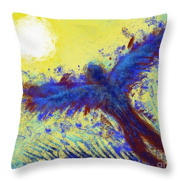 Throw Pillow featuring the digital art Icarus by Antonio Romero