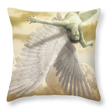 Icarus Myth Throw Pillow