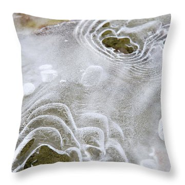 Ice Abstract Throw Pillow by Christina Rollo