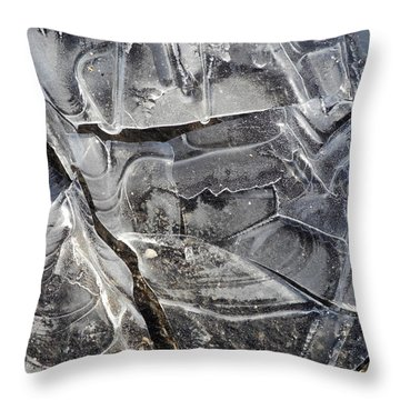 Ice Abstract Throw Pillow by Lynda Lehmann