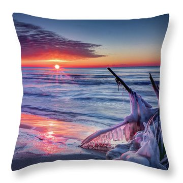 Ice Age Sunrise 1 Throw Pillow