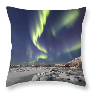 Ice And Snow Throw Pillow
