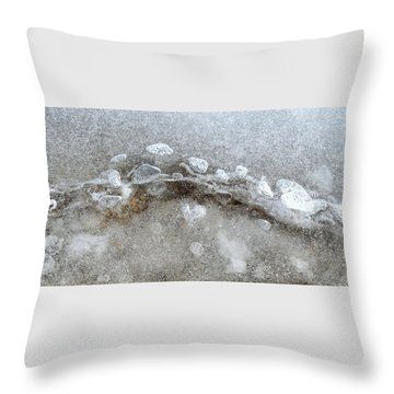 Ice And The Beach Four  Throw Pillow by Lyle Crump