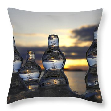 Throw Pillow featuring the photograph Ice And Water 3 by Sami Tiainen