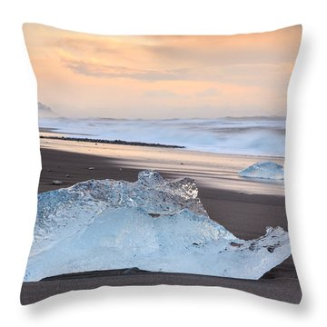 Ice Beach Throw Pillow