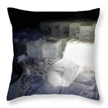 Ice Blocks In House Throw Pillow