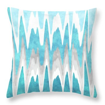 Ice Blue Abstract Throw Pillow by Christina Rollo