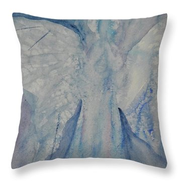 Ice Blue Angel Throw Pillow by Jeanne MCBRAYER