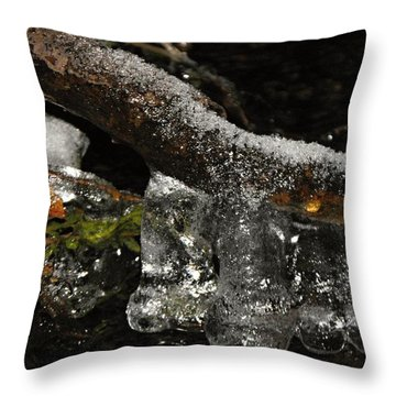 Ice Boots Throw Pillow