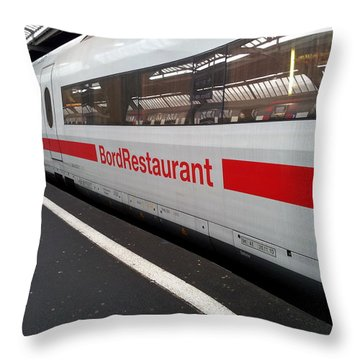 Ice Bord Restaurant At Zurich Mainstation Throw Pillow