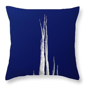 Throw Pillow featuring the photograph Ice Castle by Shane Bechler