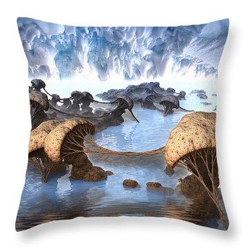 Ice Cavern Throw Pillow