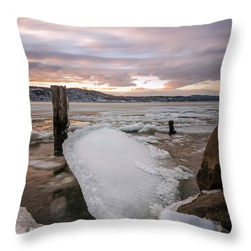 Ice Chips Throw Pillow
