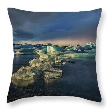 Ice Chunks Throw Pillow