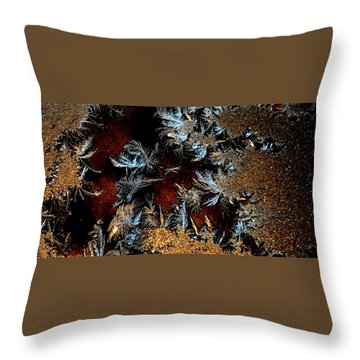 Ice Cold Gold Throw Pillow