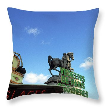 Ice Cream And The Statue Throw Pillow by Kathy Yates