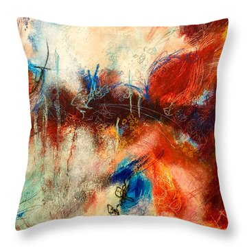 Ice Cream From Ear To Ear Throw Pillow