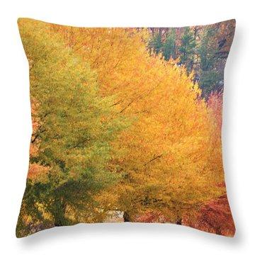 October Trees Throw Pillow