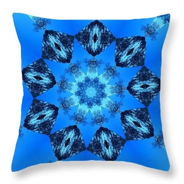 Ice Cristals Throw Pillow