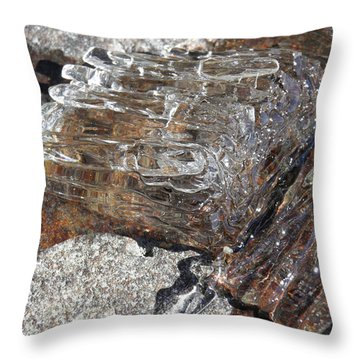 Throw Pillow featuring the photograph Ice Crystals by Sami Tiainen