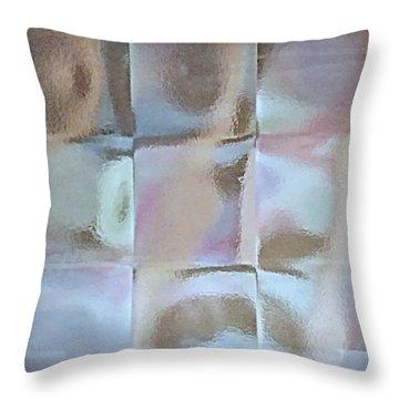 Ice Cube Mirage Throw Pillow