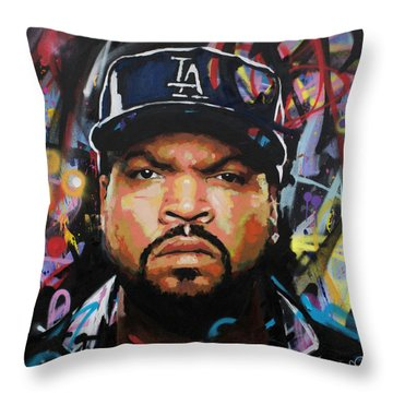 Throw Pillow featuring the painting Ice Cube by Richard Day