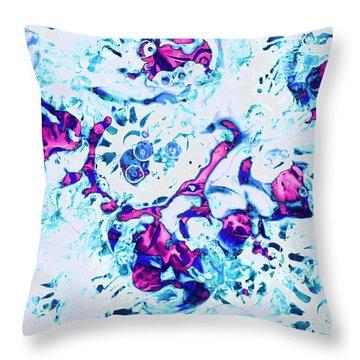 Throw Pillow featuring the painting Ice Dance by Anastasiya Malakhova