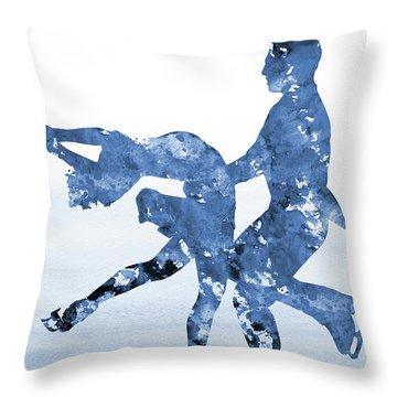 Ice Dancer-blue Throw Pillow