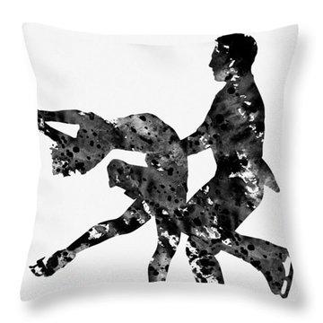 Ice Dancer Throw Pillow