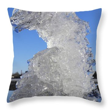 Throw Pillow featuring the photograph Ice Dragon by Sami Tiainen
