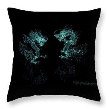 Ice Dragons Throw Pillow by Chad Hamilton