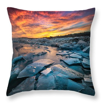 Ice Floe Throw Pillow