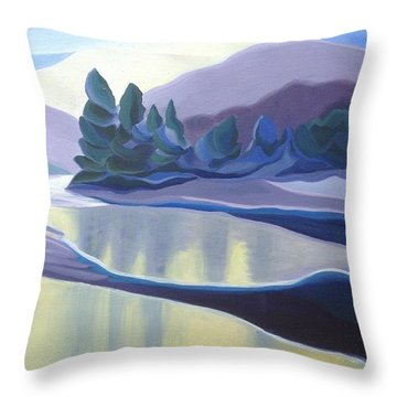 Ice Floes Throw Pillow