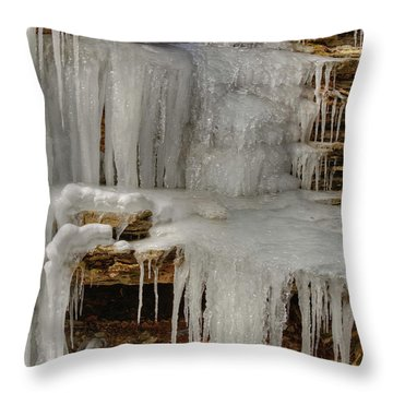 Throw Pillow featuring the photograph Ice Flow by Wanda Krack