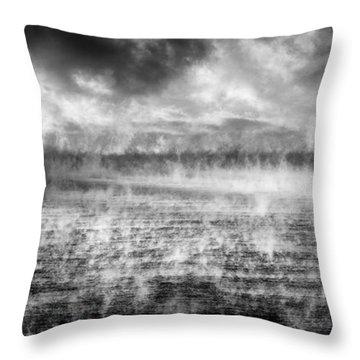 Ice Fog  Throw Pillow