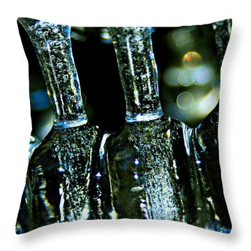 Ice Formation 02 Throw Pillow