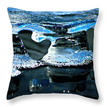 Ice Formation 10 Throw Pillow