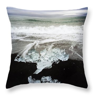 Ice In Iceland Throw Pillow