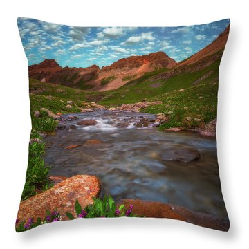 Throw Pillow featuring the photograph Ice Lake Nights by Darren White