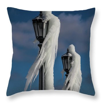 Ice Lamp Ladies Throw Pillow