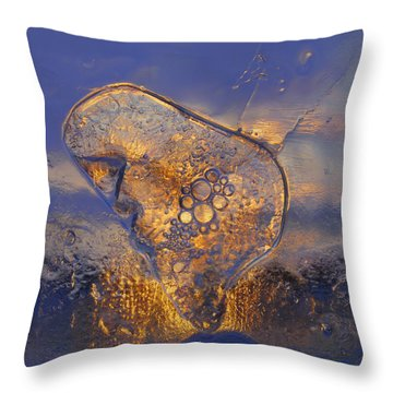 Throw Pillow featuring the photograph Ice Land by Sami Tiainen