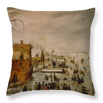 Ice Landscape Throw Pillow
