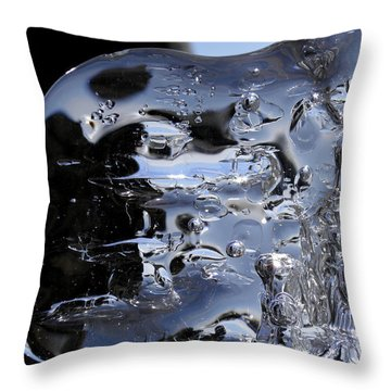 Throw Pillow featuring the photograph Ice Man by Sami Tiainen