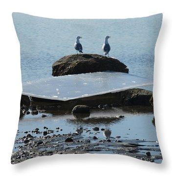 Ice Monolith Throw Pillow