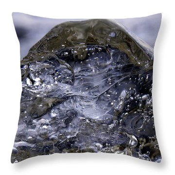 Throw Pillow featuring the photograph Ice Mountain 2 by Sami Tiainen
