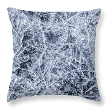 Ice On Minnehaha Creek 3 Throw Pillow